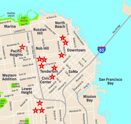 San Francisco Smut Map