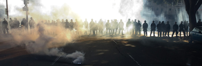 After the tear gas clears