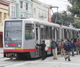 Who gets hit by Muni switchbacks?