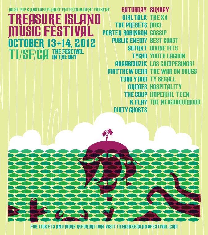 Treasure Island Music Fest lineup is out: xx, M83, Public Enemy, Best Coast