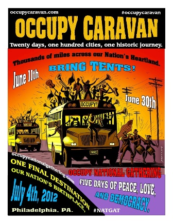 Occupy Caravan takes off to the National Gathering