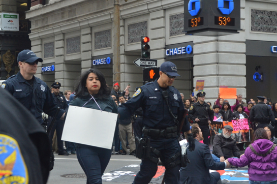 Immigration reform protest snarls downtown SF, 23 arrested