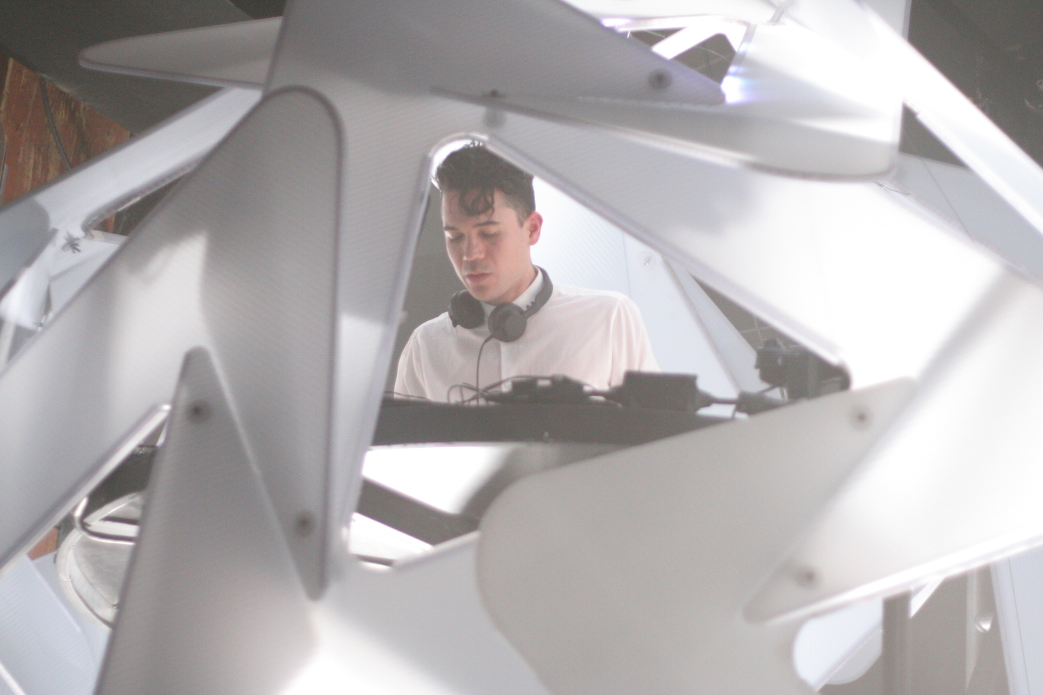 Matthew Dear presents Audion, in a shipping container of LED triangles