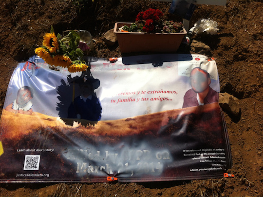 Messed up: Did this man vandalize Alejandro Nieto's memorial?