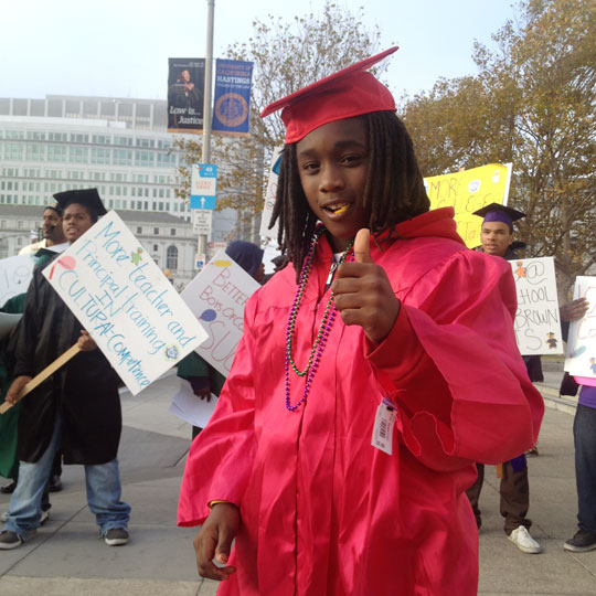 Students fight suspensions targeting young people of color