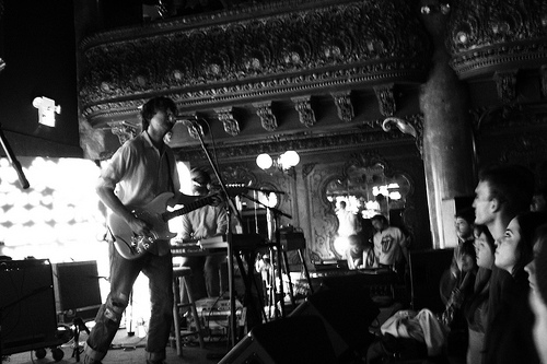 Cass McCombs greets the Great American Music Hall crowd warmly