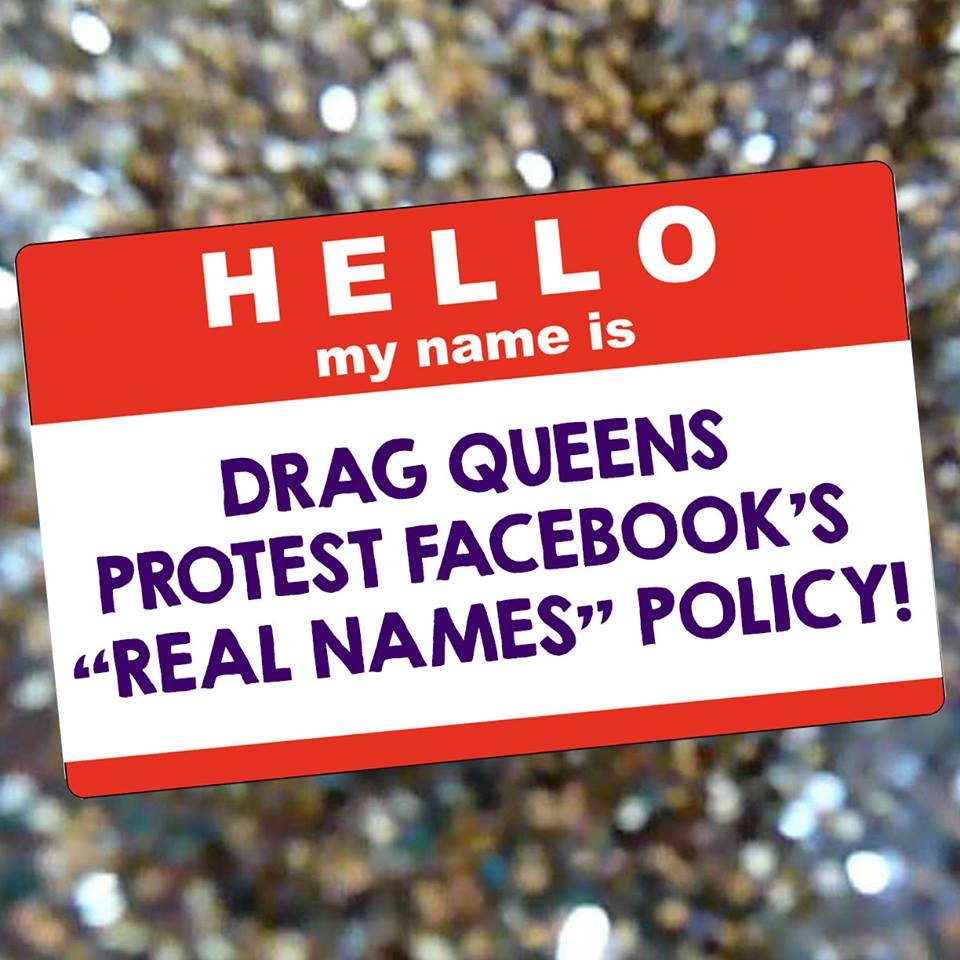 UPDATED Drag queens plan to protest Facebook over name-change policy