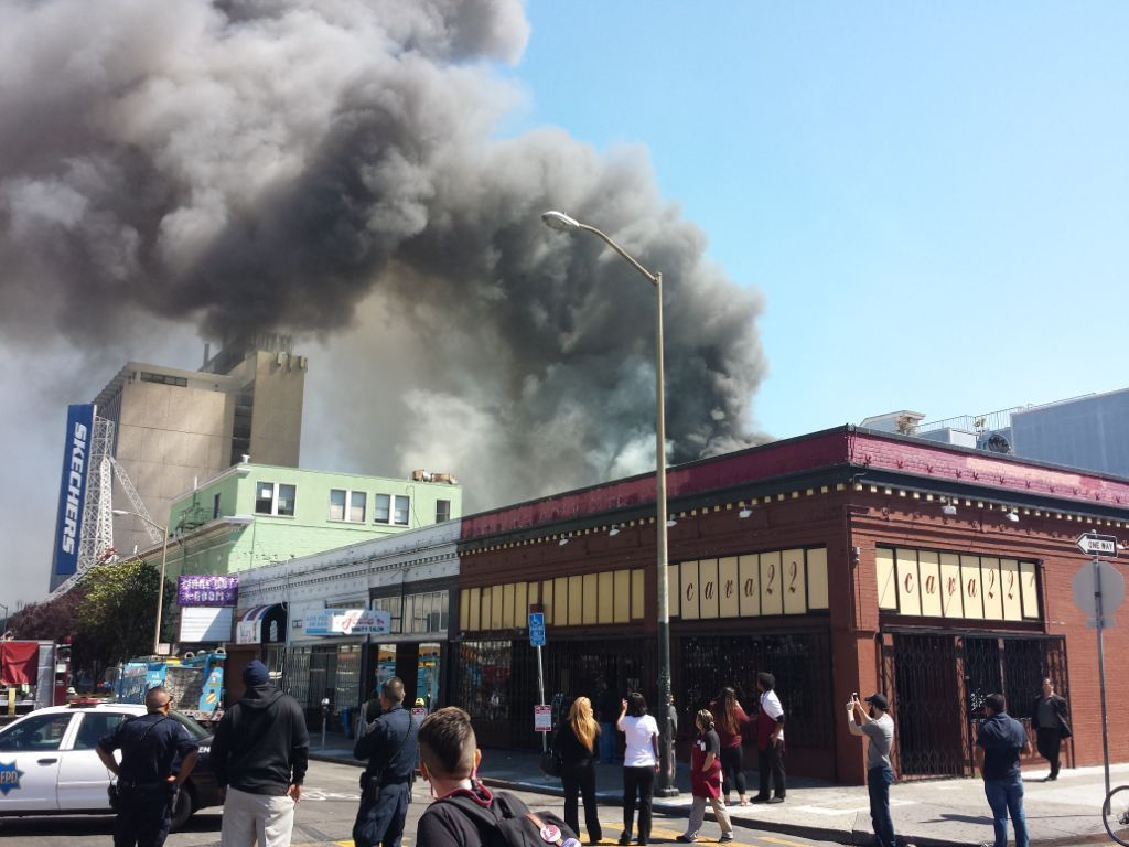 A firsthand account of the 5-alarm blaze in the Mission