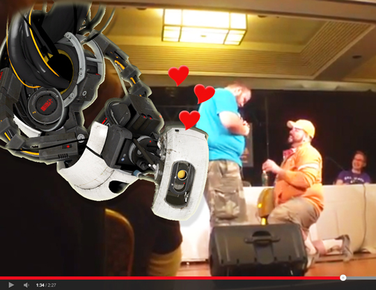 VIDEO: Videogame killer robot GLaDOS sings for same-sex marriage proposal at GaymerX convention
