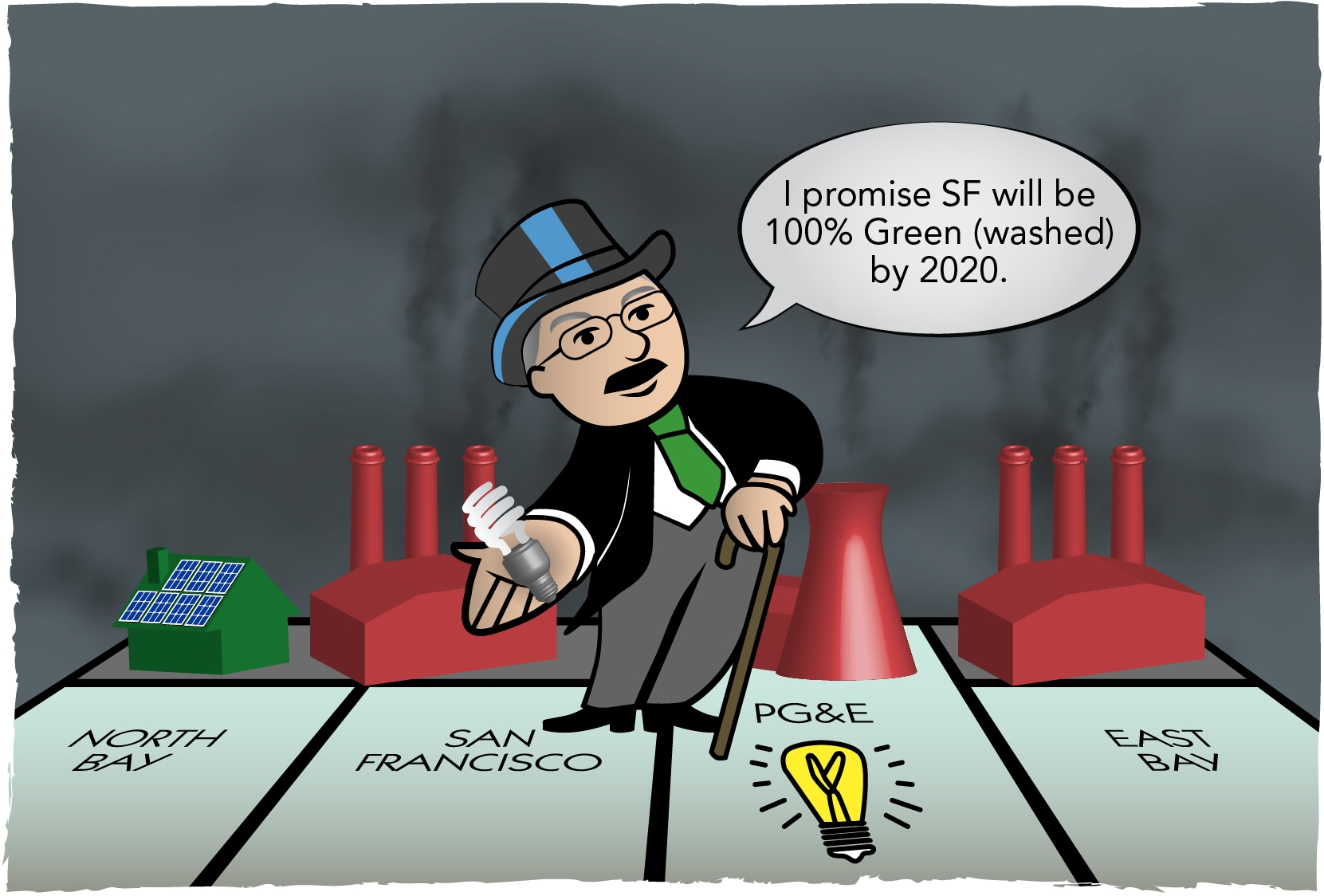 Mayor Lee supports PG&E's monopoly