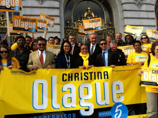 Agnos and other progressives rally for Olague