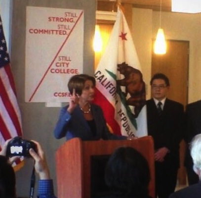 Pelosi denounces City College's accreditors