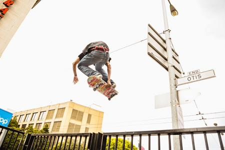 Eff you, gravity! Watch this skater fly over a fence at the new SoMa West skatepark