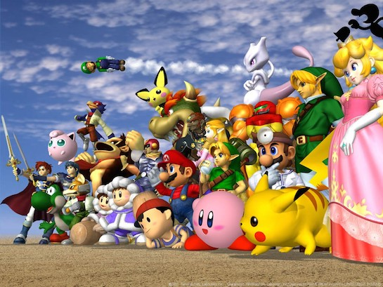 Super Smash Bros. on the big screen, Sunday 4/13!