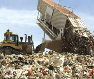 Trash war hits Chamber of Commerce lunch