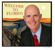 Extra! Extra! Gov. Rick Scott welcomes you to the State of Florida on election suppression  day