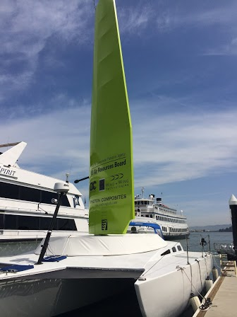 Air district unveils new wind-powered ferry